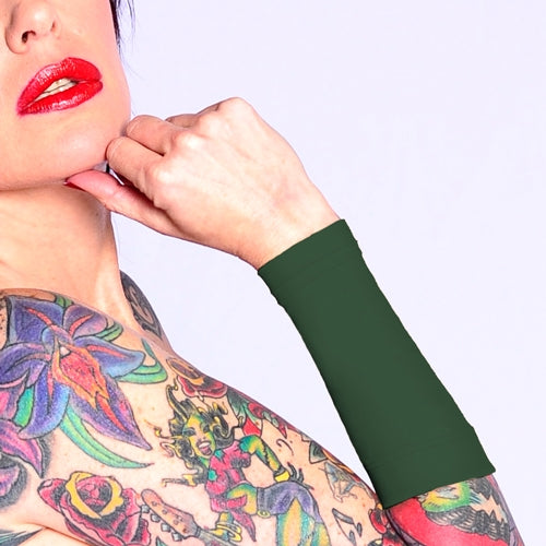Ink Armor Tattoo Cover Up Sleeve - Forearm 9 in. (Olive Green)