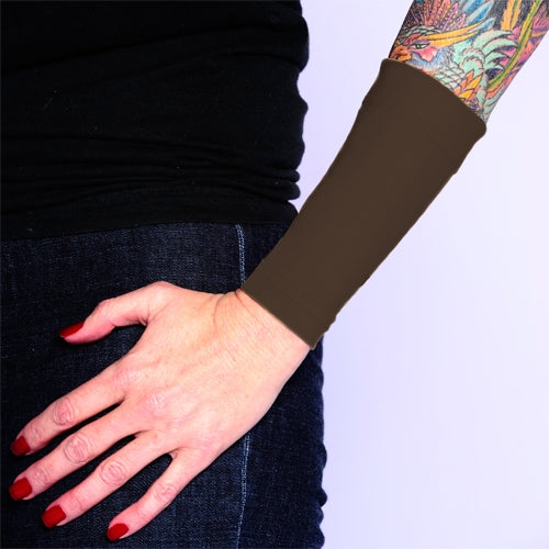 Brown Forearm Sleeves That Cover Tattoos