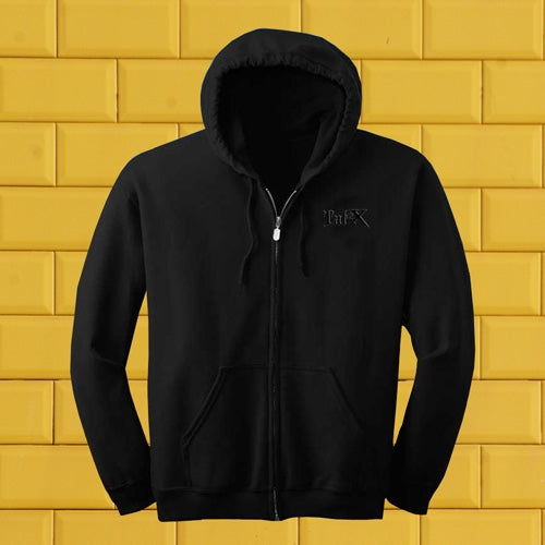 Tat2X Black Zip Up Hoodie