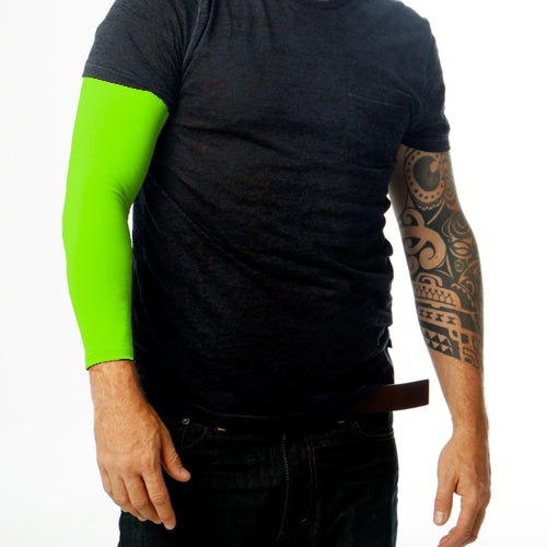 Ink Armor Tattoo Cover Up Sleeve - Full Arm (Neon Green)