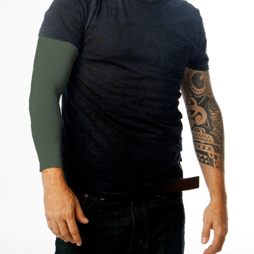 "<font color=""red""><b>BRAND NEW COLOR!</b></font> Ink Armor Tattoo Cover Up Sleeve - Full Arm (Green Camo)"