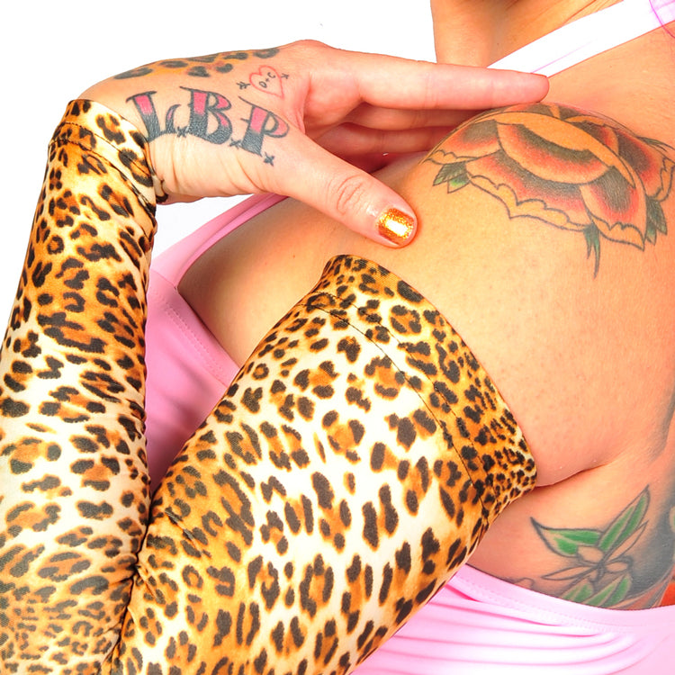 Ink Armor Tattoo Cover Up Sleeve - Full Arm Sleeve (Leopard)
