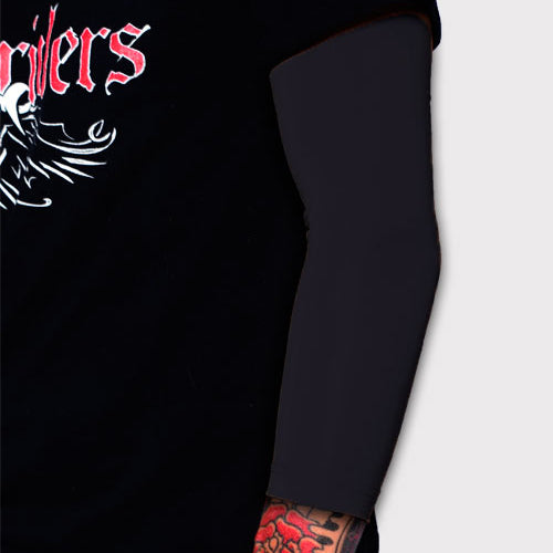 Ink Armor Tattoo Cover Up Sleeve - 3/4 Arm (Black)