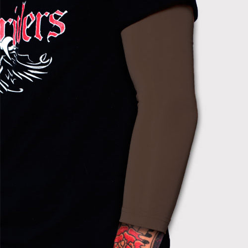 Ink Armor Tattoo Cover Up Sleeve - 3/4 Arm (Brown)