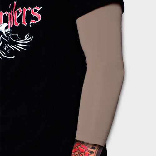Ink Armor Tattoo Cover Up Sleeve - 3/4 Arm (Cappuccino)