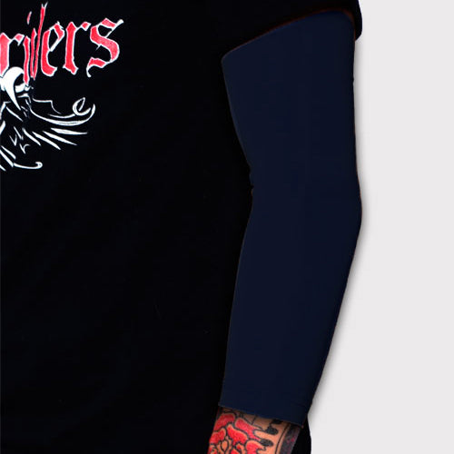 Ink Armor Tattoo Cover Up Sleeve - 3/4 Arm (Dark Navy)