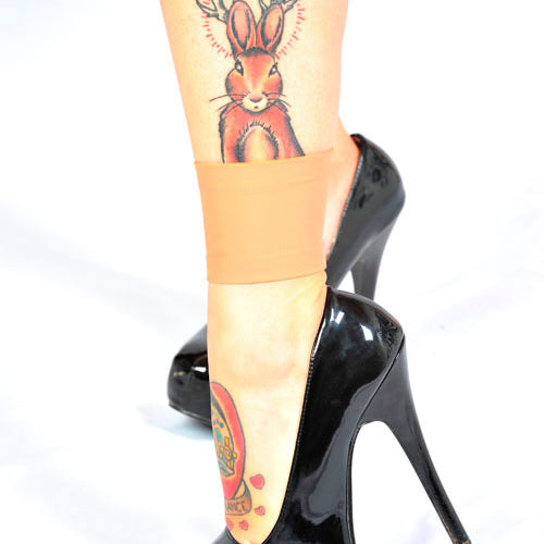 Light Tattoo Sleeve: Light Skin Tone Ankle 3 Inch Tattoo Covers For Work
