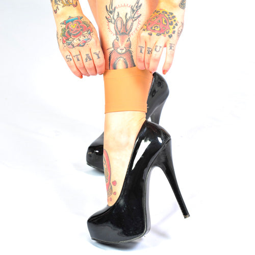 3 4 Tattoo Sleeve Cover: White 3 Inch Ankle Tattoo Cover Sleeves