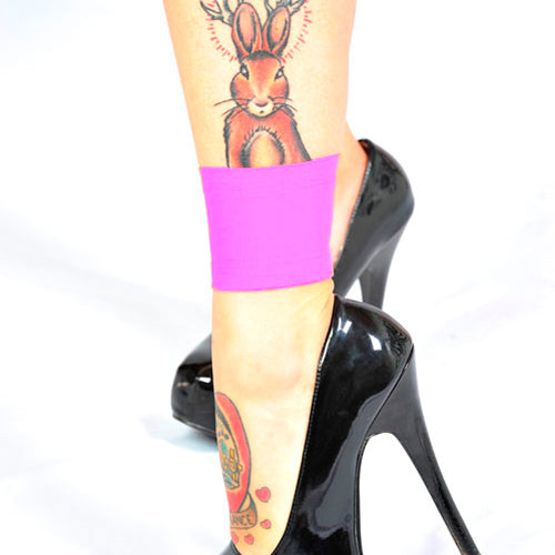 Ink Armor Tattoo Cover Up Sleeve - Ankle 3 in. (Pink)