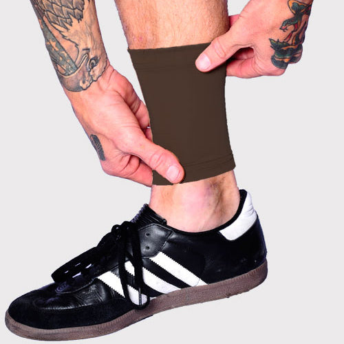 Ink Armor Tattoo Cover Up Sleeve - Ankle 6 in. (Brown)