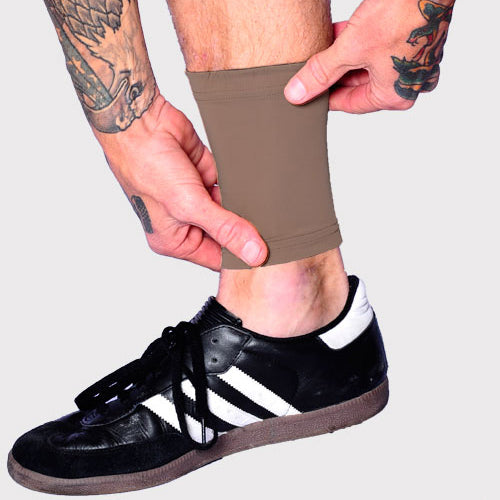 Ink Armor Tattoo Cover Up Sleeve - Ankle 6 in. (Cappuccino)