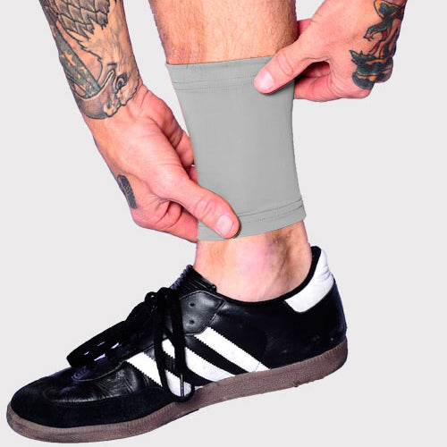 Ink Armor Tattoo Cover Up Sleeve - Ankle 6 in. (Silver)