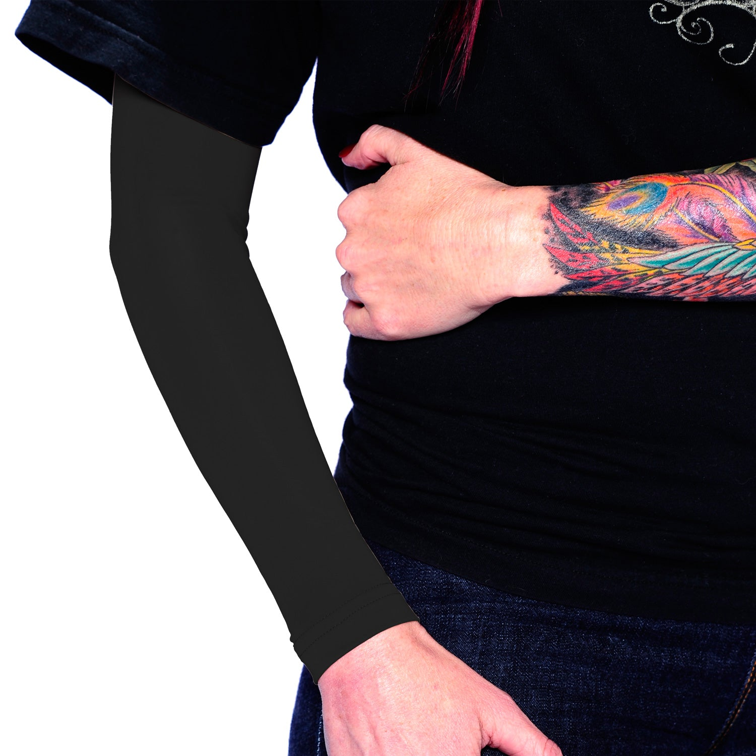 Ink Armor Tattoo Cover Up Sleeve - Full Arm (Black)
