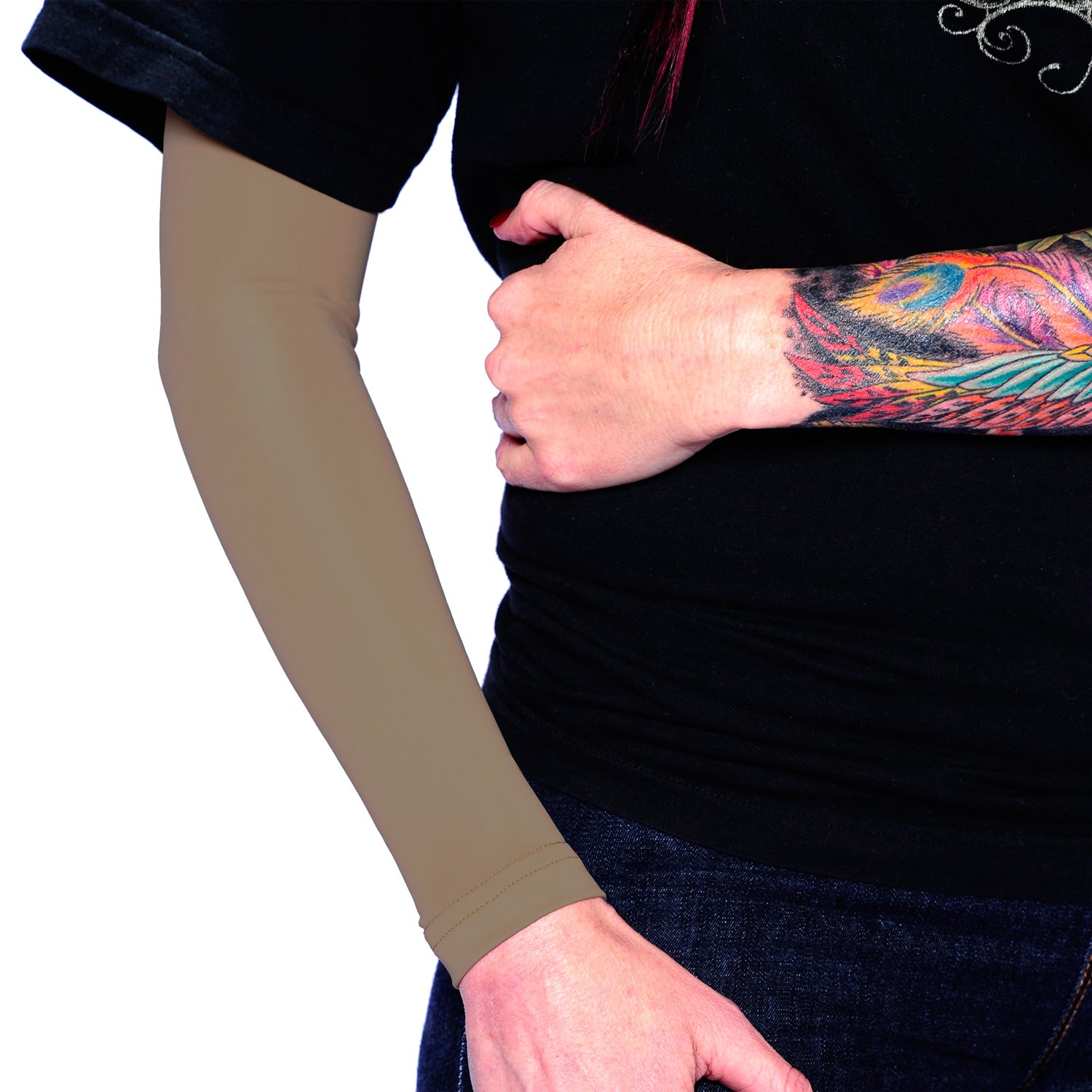 Ink Armor Tattoo Cover Up Sleeve - Full Arm (Cappuccino)