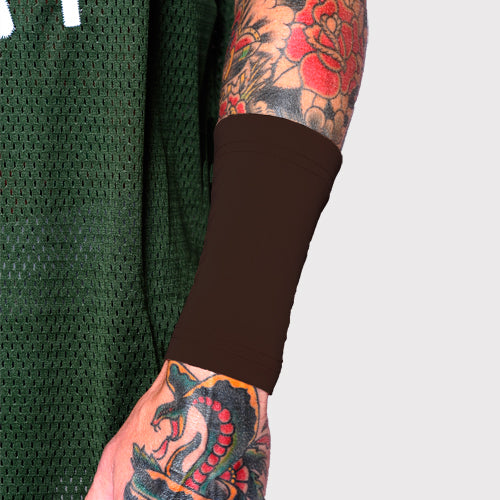 Ink Armor Tattoo Cover Up Sleeve - Forearm 6 in. (Brown Town)