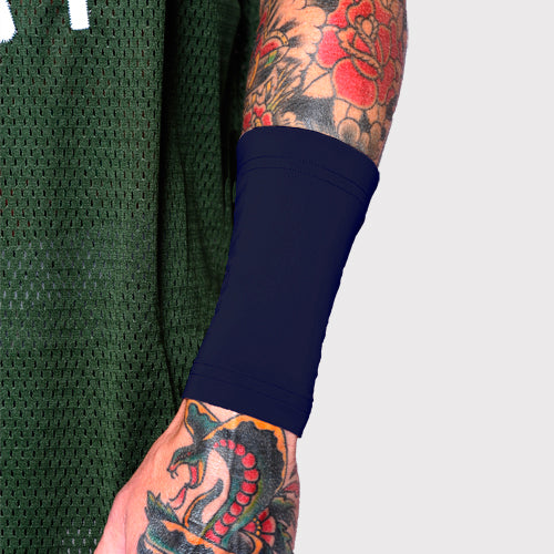 Dark Navy Ink Armor Forearm Six Inch Tattoo Cover Sleeve | Made in USA