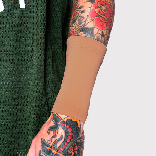 Ink Armor Tattoo Cover Up Sleeve - Forearm 6 in. (Suntan)