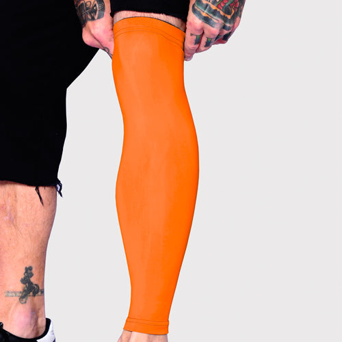 Ink Armor Tattoo Cover Up Sleeve - Full Leg (Neon Orange)