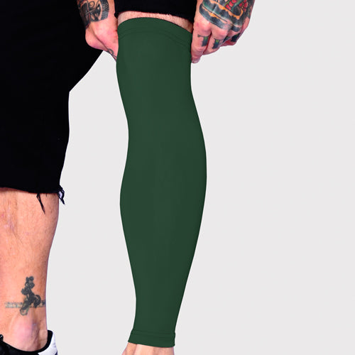 Ink Armor Tattoo Cover Up Sleeve - Full Leg (Olive Green)