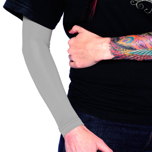 Ink Armor Tattoo Cover Up Sleeve - Full Arm (Silver)