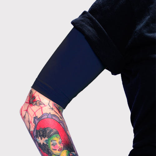 Ink Armor Tattoo Cover Up Sleeve - Half Arm (Dark Navy)