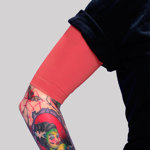 Ink Armor Tattoo Cover Up Sleeve - Half Arm (Red)