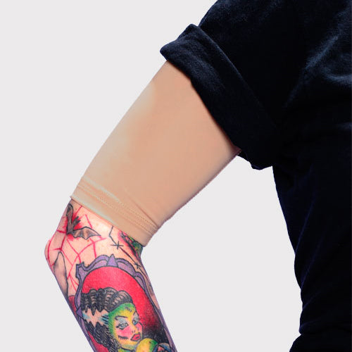 Ink Armor Tattoo Cover Up Sleeve - Half Arm (Suntan)