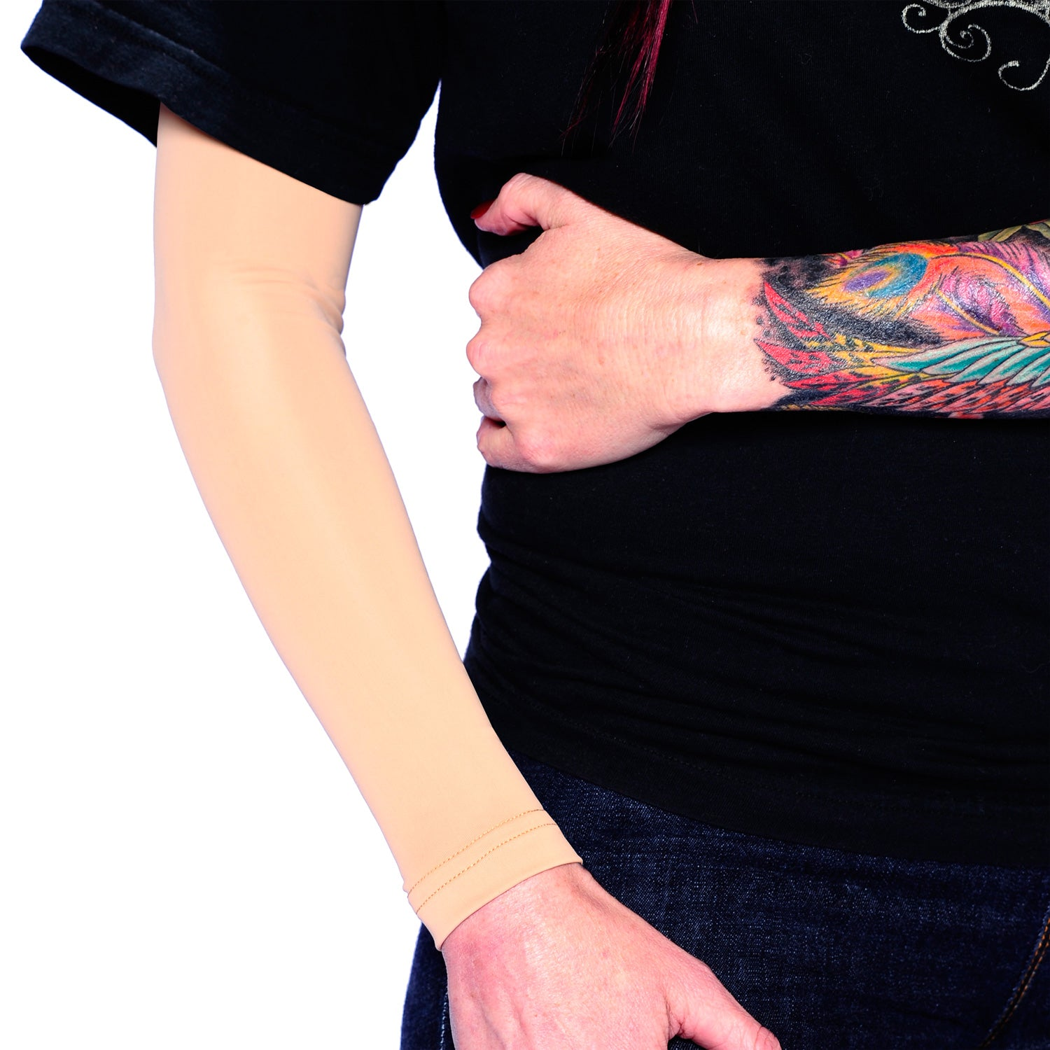 Full Arm Flesh Colored Sleeves to Cover Tattoos | Tat2X Tattoo Covers