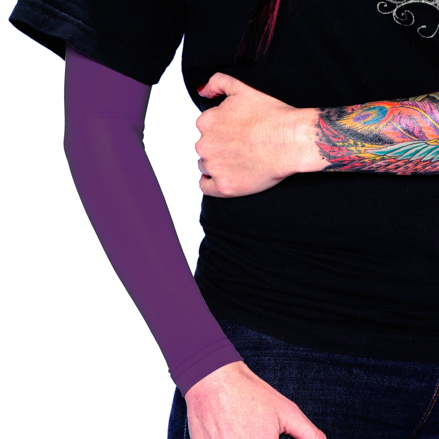 Ink Armor Tattoo Cover Up Sleeve - Full Arm (Purple)