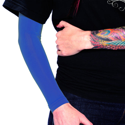Ink Armor Tattoo Cover Up Sleeve - Full Arm (Royal Blue)