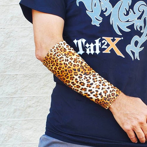 Ink Armor Tattoo Cover Up Sleeve - Forearm 9 inch (Leopard Pattern)