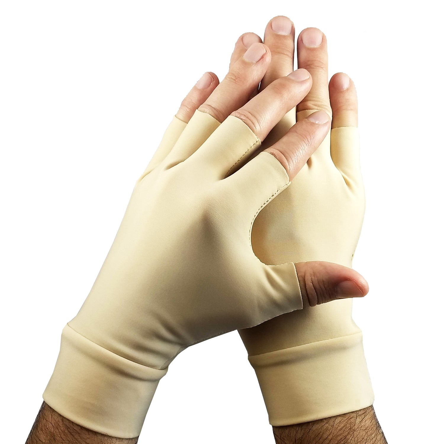 Light Skin Tone Tattoo Cover Up Fingerless Gloves (sold as a pair)