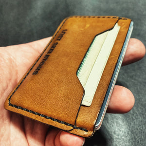 LS Mini Skeleton Horizontal Leather Wallet Card Holder
