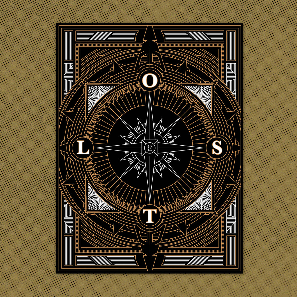 LS LOST Compass Poster