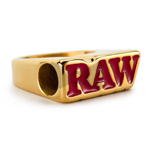 RAW Smoke Ring 24k Gold