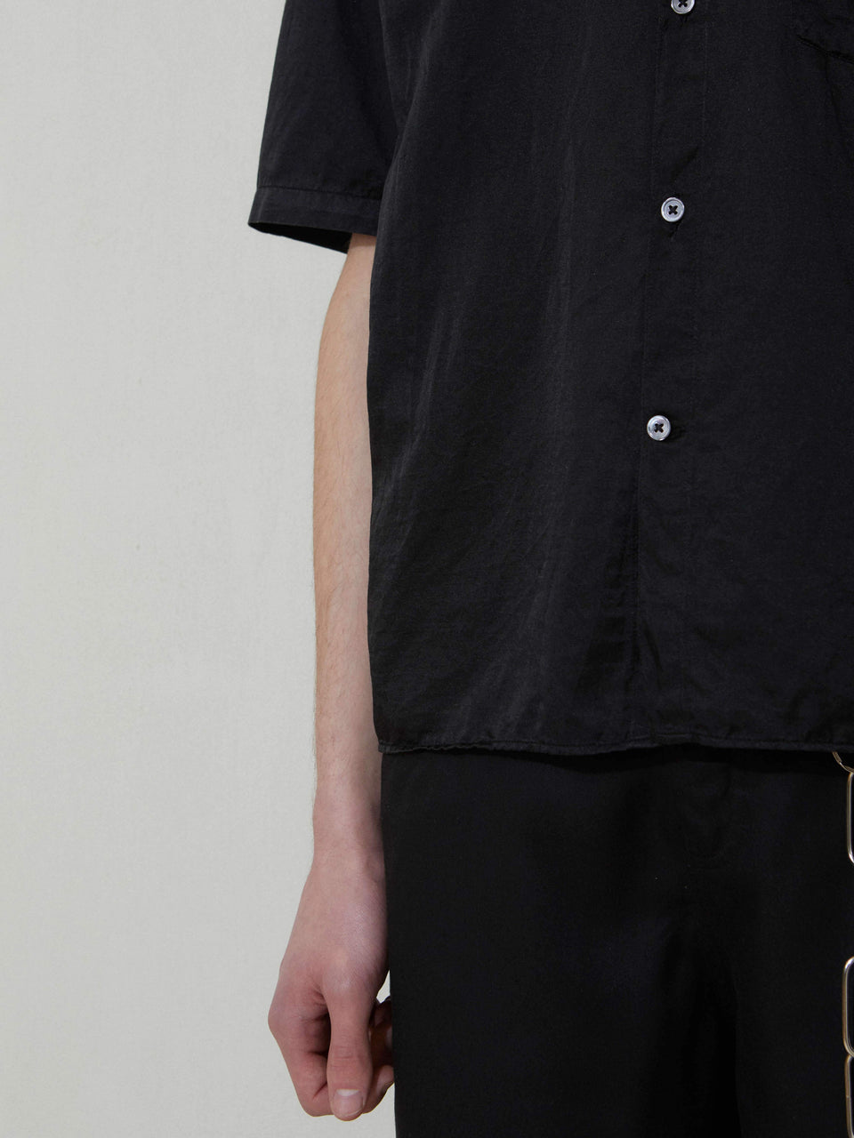 Silky Shirt Short Sleeve