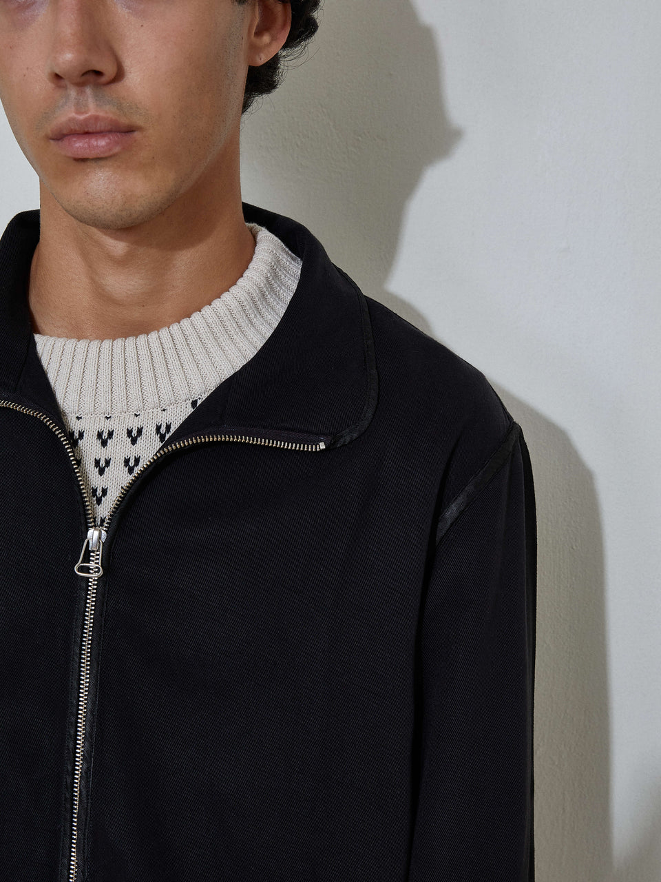 Zip-Up Overshirt