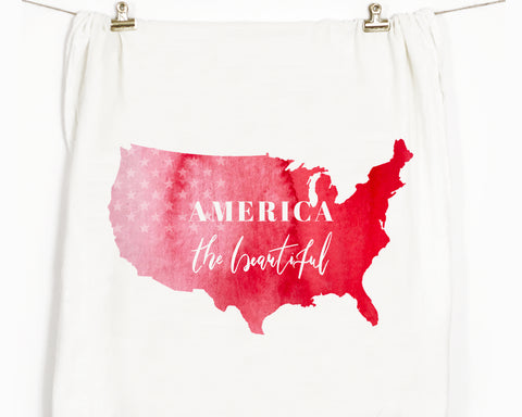 America The Beautiful Flour Sack Tea Towel