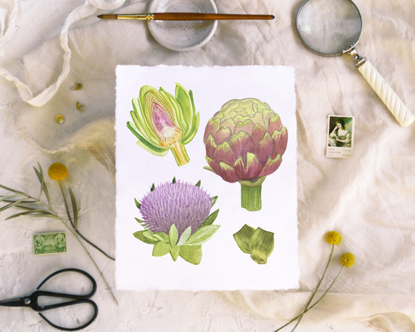 'Artichoke' Print - Honey Brush Design