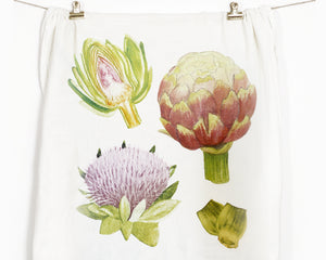 Artichoke Flour Sack Tea Towel - Honey Brush Design