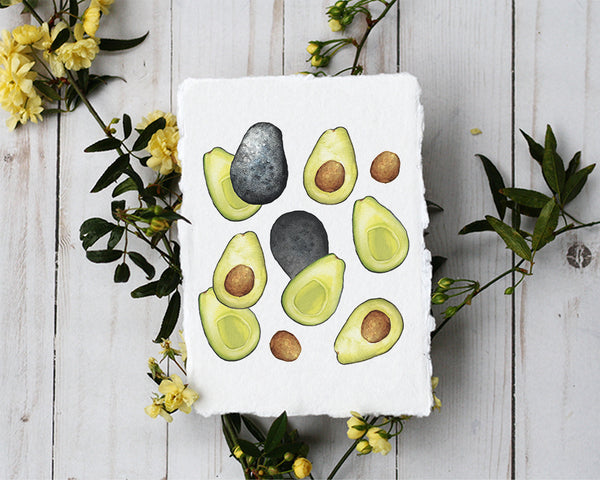 'Avocado' Print - Honey Brush Design