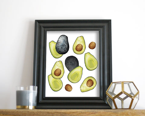 'Avocado' Printable - Honey Brush Design