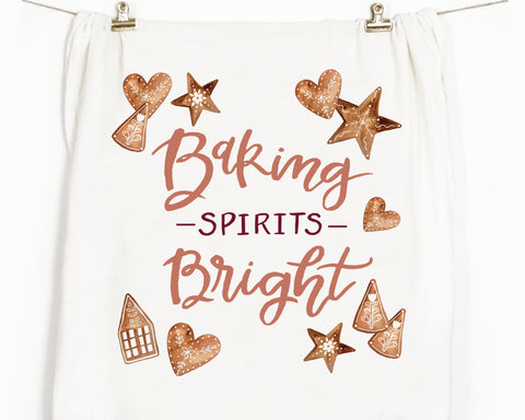 Baking Spirits Bright Flour Sack Tea Towel