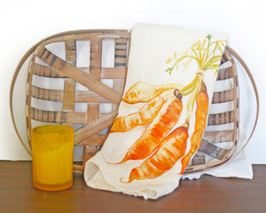Carrots Flour Sack Tea Towel