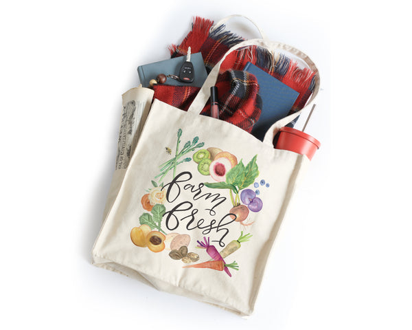 PRE-SALE Farm Fresh Tote Bag - Honey Brush Design
