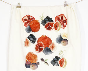 Fruit Flour Sack Tea Towel - Honey Brush Design