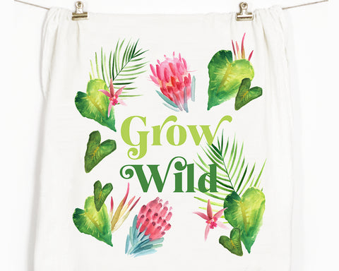 Grow Wild Flour Sack Tea Towel