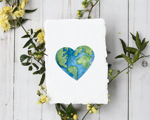 'Heart Earth' Print - Honey Brush Design