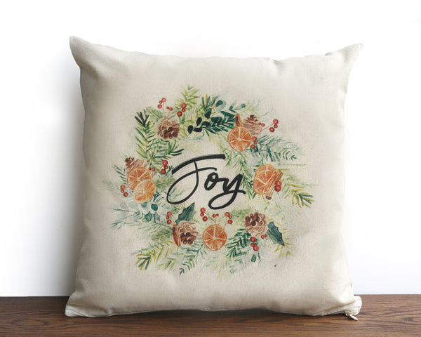PRE-SALE Joy Canvas Square Pillow Cover