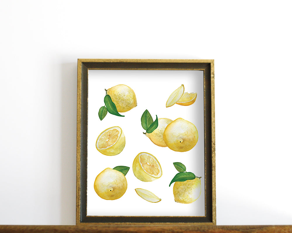 'Lemons' Printable - Honey Brush Design